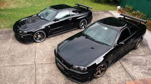 Black Cars Jdm Japanese Domestic Market Nissan Skyline R34 Gt R