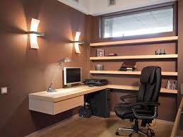 graceful furniture for small office designs with angelic wall