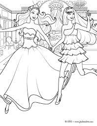 coloriage gratuit barbie princesse imprimer