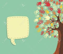Blank Invitation Cards Templates Diversity Tree Hands Illustration With Blank For Text Greeting