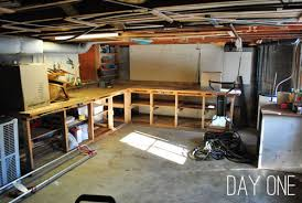 My Awesome Basement - adding some basement workshop organization young house love