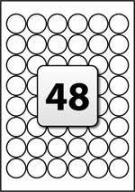 48 round labels per a4 sheet 30 mm diameter flexi labels