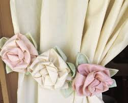 Shabby Chic Tie Backs by Shabby Chic Rose Curtain Tie Back Handmade Muslin And Roses