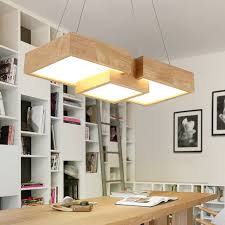 Restaurant Kitchen Lighting Modern Wooden Led Pendant Light Fixtures For Restaurant Kitchen