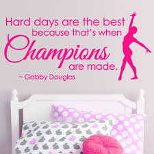 online get cheap sports wall quotes aliexpress com alibaba group gymnastics dance girls sport vinyl wall decor champions saying wall stickers inspiration quote mural