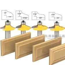 Router Bits For Cabinet Doors 4 Pcs Bit Drawer Front And Cabinet Door Front Router Bit Set With
