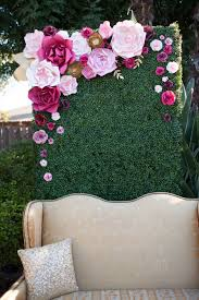 wedding backdrop of flowers paper flower back drop by paperflora photo booth backdrop pink