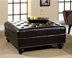 Cushioned Ottoman Leather Nailhead Ottoman Intuitivewellness Co
