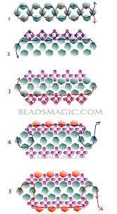 bracelet beads pattern images Free pattern for beaded bracelet dark violet beads magic jpg