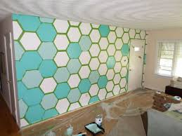 Wall Paintings Designs Loved This Tutorial On How To Create A Diy Hexagon Wall Including