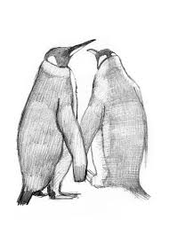 2 king penguins drawing stock illustration image of antarctic