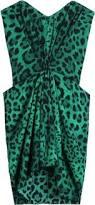 dolce u0026 gabbana drape front leopard print bustier dress
