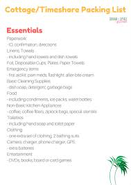 what to bring to a rental cottage or timeshare sugar spice and