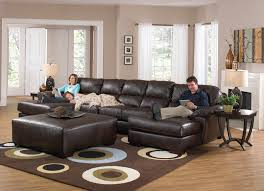 Leather Chaise Lounge Sofa by Popular Leather Sofa With Chaise Lounge With Inspiring Double