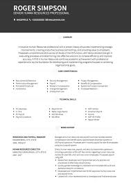 Examples Of Core Competencies For Resume by Hr Cv Examples And Template
