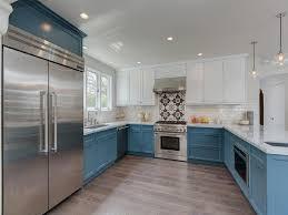 kitchen cabinets white top blue bottom white top cabinets and blue bottom cabinets design ideas