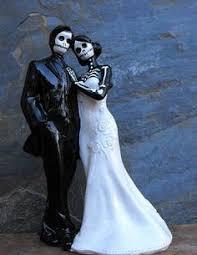 skeleton cake topper never dies skulls wedding cake topper wedding