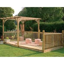 forest garden large ultima pergola deck kit 2 4 x 4 8m