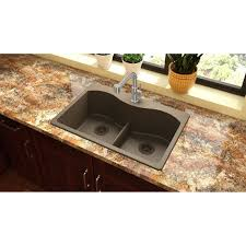 Brown Kitchen Sink Elkay Quartz Classic 33 X 22 Basin Top Mount Kitchen Sink