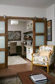 Calgary Glass Barn Doors Home Office Modern With Transitional - Transitional dining room chairs