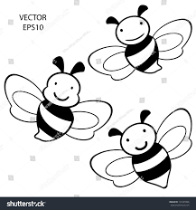drawn bee face cartoon pencil and in color drawn bee face cartoon