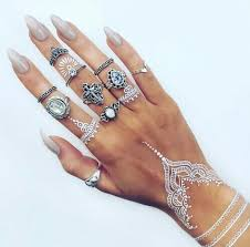 hand jewelry rings images Hand henna jewelry nails rings image 3873145 by olga_b on jpg