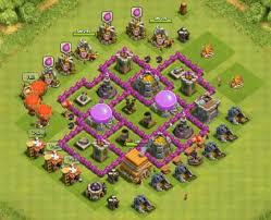 coc map layout th6 th6 farming base clash of clans town hall layouts pinterest