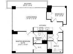 Chicago 2 Bedroom Apartments 1 Bedroom Plus Den Floor Plan Of Property Trio In Chicago Trio