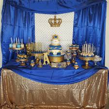 royal prince baby shower royal prince dessert table desert