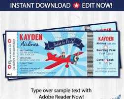 airplane party ticket invitations plane party invitations