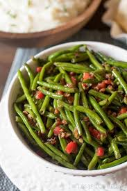green beans with toasted pecans dinner side dish