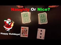 naughty or nice very cool christmas card trick youtube