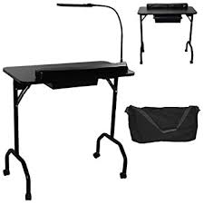 amazon com lcl beauty portable folding 1 drawer manicure table