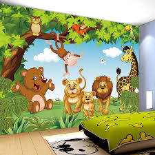 Aliexpresscom  Buy Cartoon Animation Child Room Wall Mural For - Kids room wallpaper murals