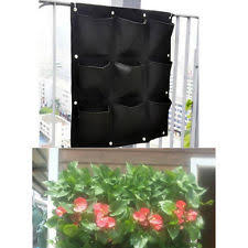 vertical hanging wall garden 32 pockets planting bags seedling