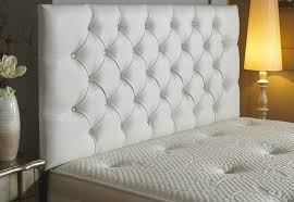 White Cushioned Headboard by Perfect White Tufted Headboard With Crystals 68 On Easy Diy