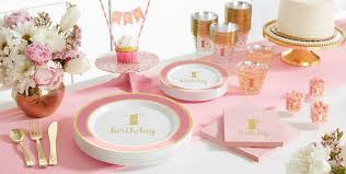 pink and gold party supplies pink gold premium 1st birthday party supplies pink tableware