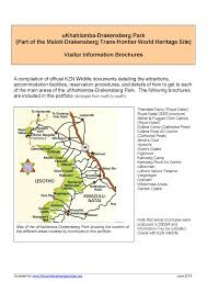 Drakensberg Mountains Map Maloti Drakensberg Park South Africa U0026 Lesotho African World