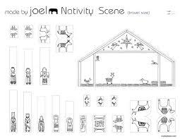 printable nativity scene template vianoce pinterest