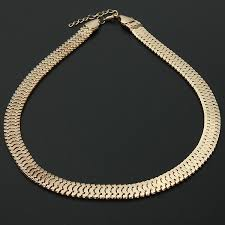 chain necklace snake images Bib silver gold thick snake link chain necklace mens womens jpg