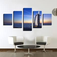 Home Decor Dubai 5 Panel Burj Al Arab Hotel Dubai Uae Travel Booking Pool Modern