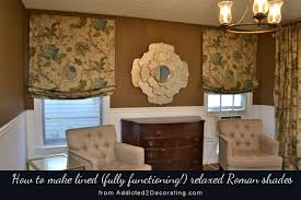 Instructions For Making A Roman Blind Diy Tutorial How To Make Lined Relaxed Roman Shades