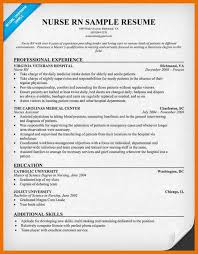 examples of resume for nurses sample new rn resume rn new grad