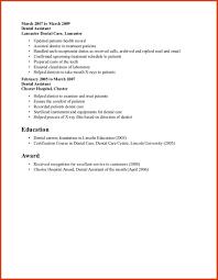 Certification Letter Format Sle Cover Letter Dental Assistant Sample Resume Oral Surgery Dental