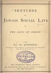 sketches of jewish social life in the days of christ edersheim