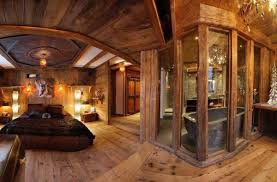 Small Log Cabin Interiors Outstanding Log Cabin Decorating Ideas Bedroom Using Modern Bed
