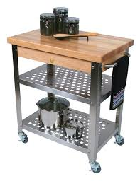 furniture grey wodoen butcher block cart with backsplash for