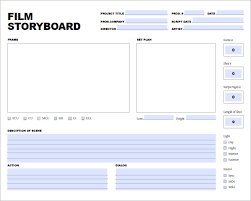 movie storyboard template u2013 8 free word excel pdf ppt format