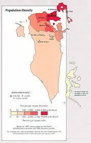 Population Density Map Bahrain Population Density Map Bahrain U2022 Mappery