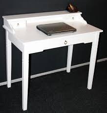 Schreibtisch Massivholz Sekretär 100x91x57cm 1 2 Schubladen Pappel Massiv Weiß Lackiert
